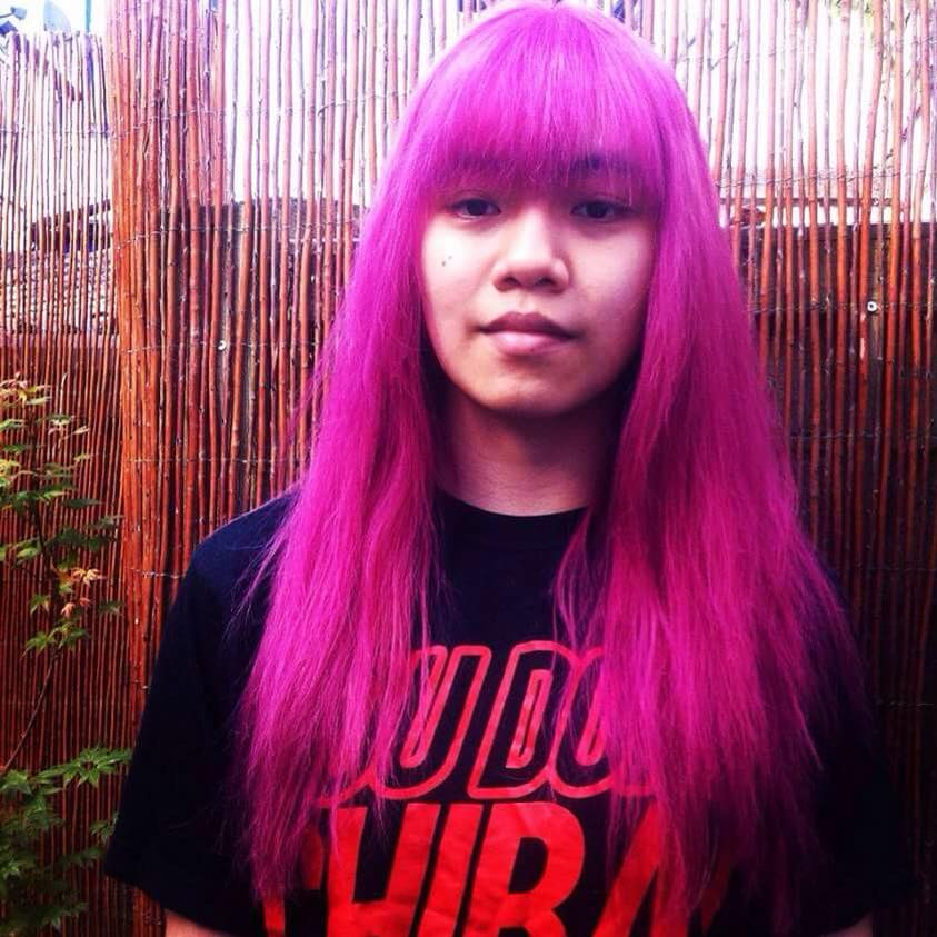 Anne used Davines' natural and sustainable hair products to create the striking pink her client wanted